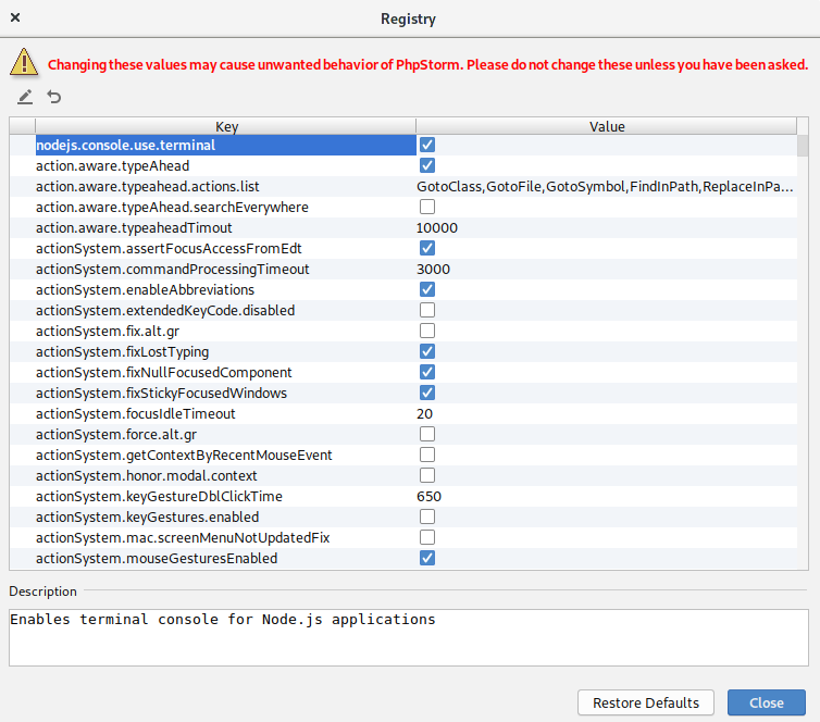 registry-nodejs-console-use-terminal